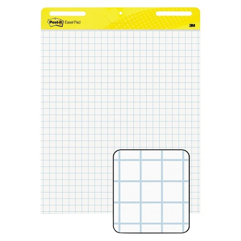 Post-it® 25 x 30 Easel Pads Self-Stick Easel Pads, Quad Rule- White (2 30-Sheet Pads per Carton) - image 1 of 2