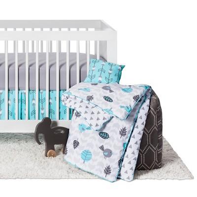 Sweet Jojo Designs Earth & Sky 11pc Crib Bedding Set - Turquoise & Gray