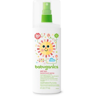 Babyganics Mineral-Based Baby Sunscreen Spray, SPF 50 - 6oz