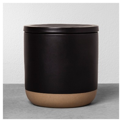 Stoneware Storage Canister Large - Black - Hearth & Hand™ with Magnolia