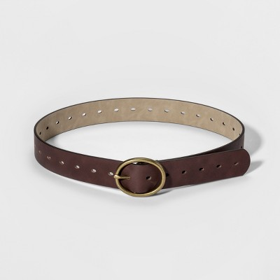 Women's Adjustable Jean Belt with Rounded Design Buckle - Universal Thread™