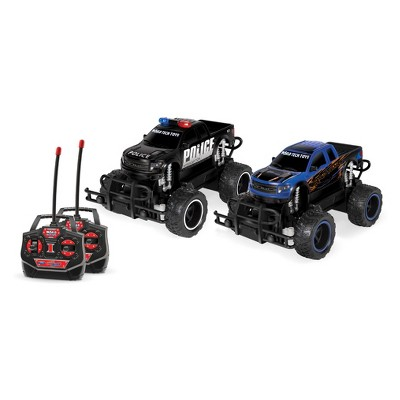 Ford F-150 SVT Raptor Police Pursuit RTR Electric Remote Control RC Monster Truck Double Pack - 1:24 Scale