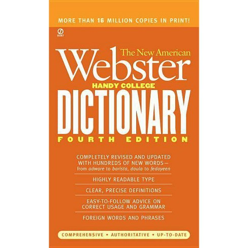 The New American Webster Handy College Dictionary - 4 Edition by  Philip D Morehead (Paperback) - image 1 of 1