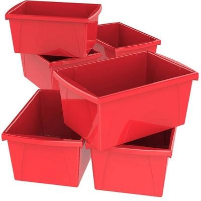 Storex 6pk 5.5gal Classroom Storage Bins