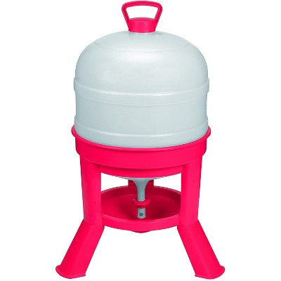 Little Giant DOMEWTR8 8 Gallon Tank Heavy Duty Plastic Dome Poultry Chicken Gravity Waterer Feeder, Red