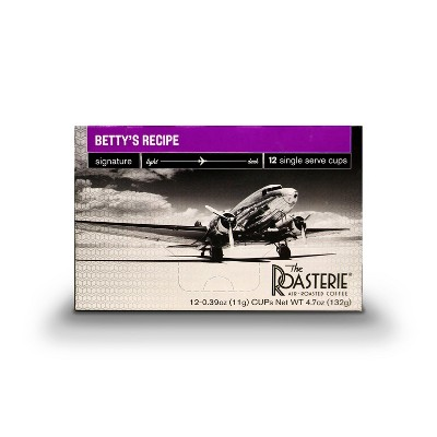 The Roasterie Betty's Medium Roast Coffee - Single Serve Cups - 12ct