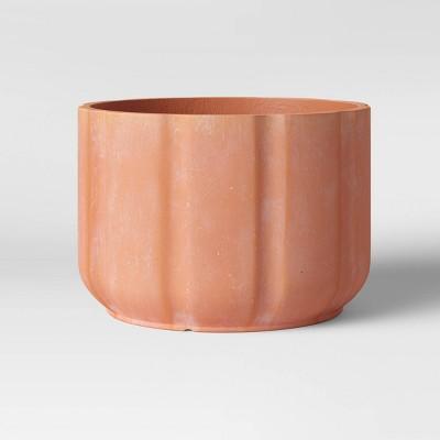 15  Concrete Ribbed Planter Terracotta - Smith & Hawken™