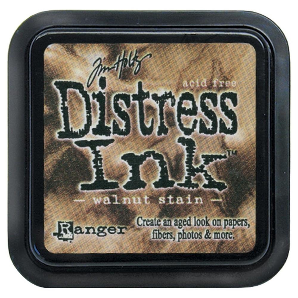 Tim Holtz Distress Ink Pad-Walnut Stain 2.25x2.25, Walnut Stain