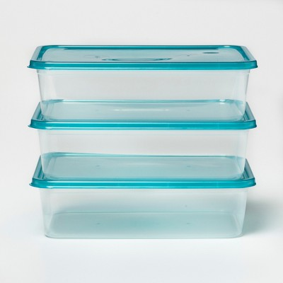 Food Storage Container 6pc Set Teal Lids - Room Essentials™