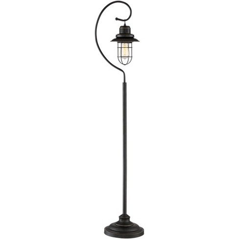 Franklin Iron Works Industrial Lantern Floor Lamp Oil Rubbed Bronze Metal Cage Dimmable LED Edison Bulb for Living Room Reading - image 1 of 4