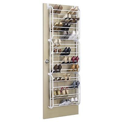 Whitmor 36 Pairs Capacity Over The Door Shoe Rack  White 67804679WHT