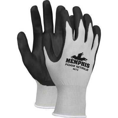 MCR Safety Safety Knit Glove Nitrile Coated Medium 1 Pair Gray 9673M