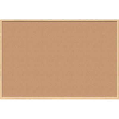 U Brands Cork Bulletin Board 70 x 47 Inches Oak MDF Frame 2872U00-01