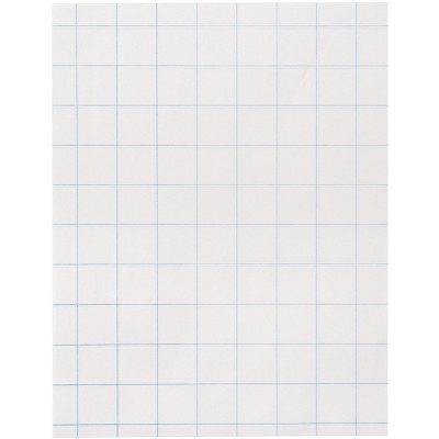 School Smart Graph Paper, 8-1/2 x 11 Inches, 15 lbs, 1 Inch Grids, pk of 500