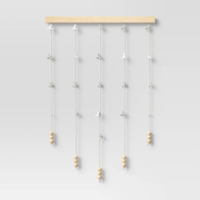 """20"""" Beaded Photo Wall Hanging Natural - Opalhouse™"""