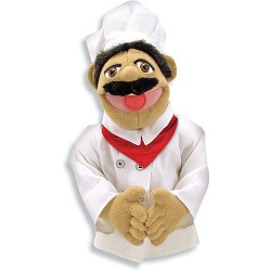 Melissa & Doug Chef Puppet With Detachable Wooden Rod