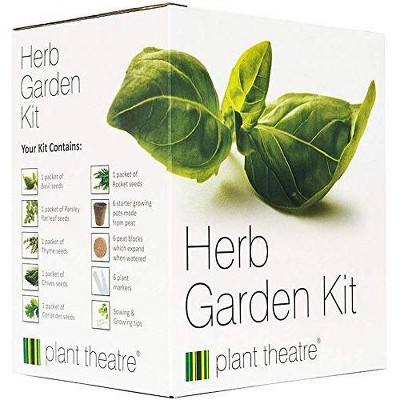Plant Theatre Herb Garden Kit - Plant Seed Kit - 6 Different Herbs to Grow - Everything You Need to Start Growing in one Box!