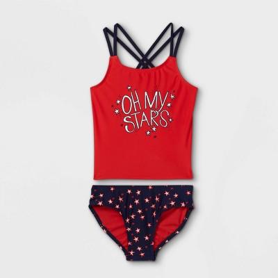 Girls' Oh My Stars Tankini Set - Cat & Jack™ Red