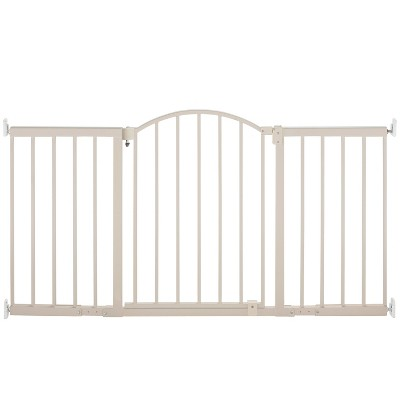 Summer Infant® Walk Thru Extra Wide Expansion Baby Gate (Beige Metal)