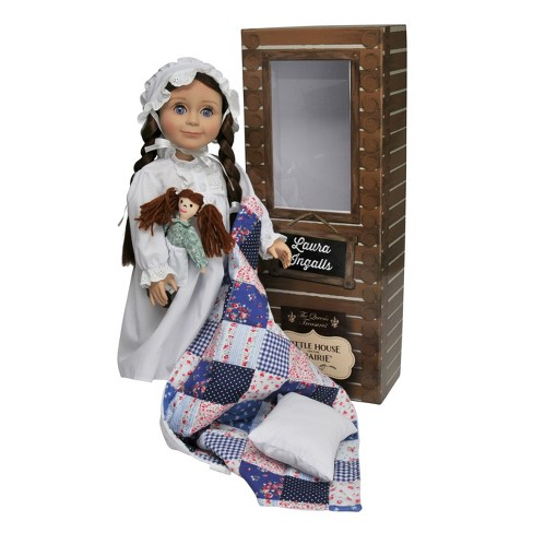 """The Queen's Treasures Little House on the Prairie 18"""" Laura Ingalls Doll with Nightgown, Rag Doll, Pillow & Quilt - image 1 of 4"""