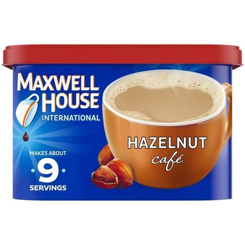 Maxwell House International Hazelnut Cafe Light Roast Coffee - 9oz Tub - image 1 of 4