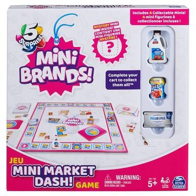 5 Surprise Mini Brands! Mini Market Dash Board Game