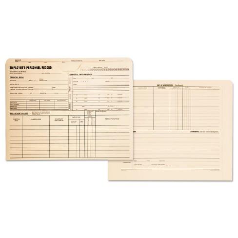 Quality Park Employee Record Jackets 11 3/4 x 9 1/2 11 Point Manila 100/Box 69999 - image 1 of 1