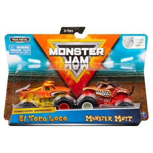 Monster Jam Official El Toro Loco vs. Monster Mutt Die-Cast Monster Trucks 1:64 Scale, 2pk - image 1 of 4