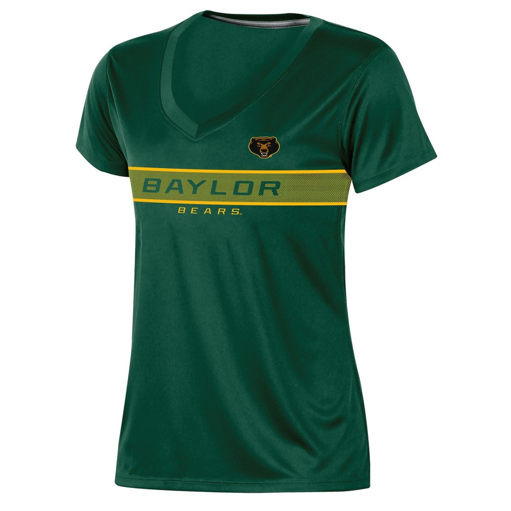 Baylor Bears Women's Short Sleeve V-Neck Performance T-Shirt - L, Multicolored