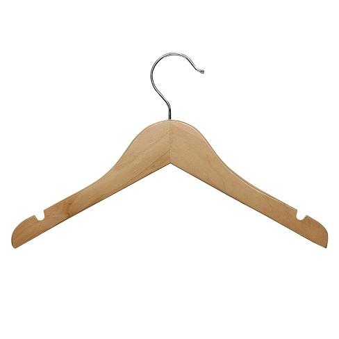 Kid s Basic Shirt Hanger - Maple (10pk)   Target 24cbd1127f4