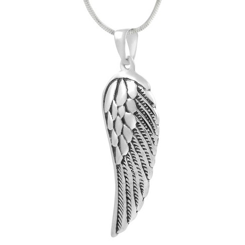 Sterling Silver Angel Wing Necklace - Silver   Target 40676f5a9