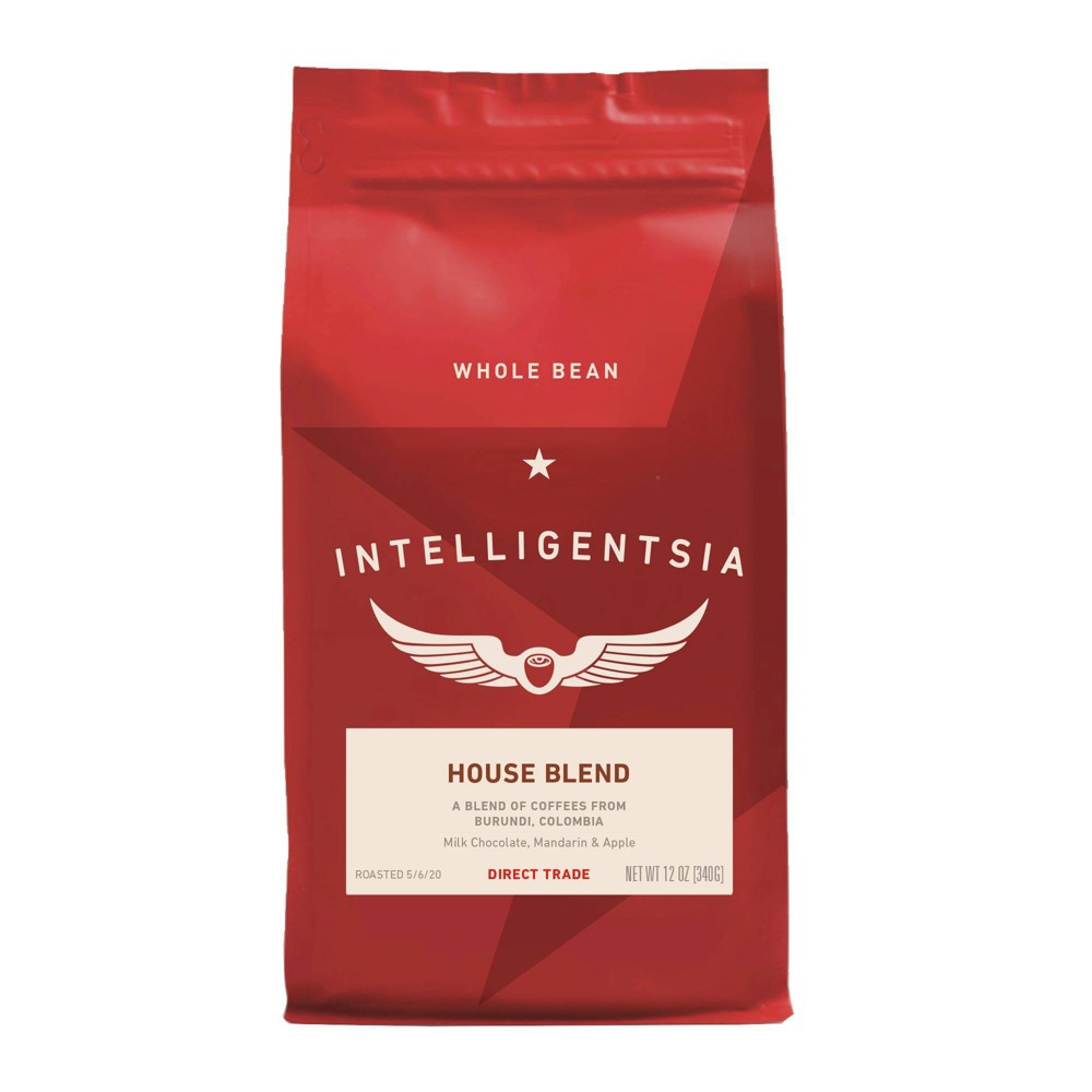 Intelligentsia Direct Trade House Blend Medium Roast Whole Bean Coffee 12oz