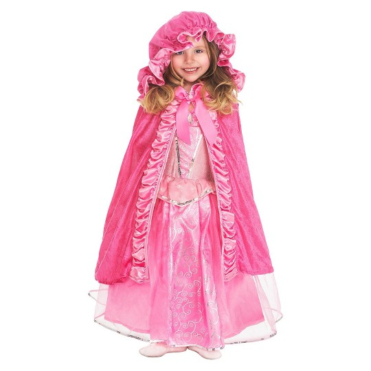 Little Adventures Girls' Deluxe Cloak - Pink S/M, Size: Small/Medium image number null