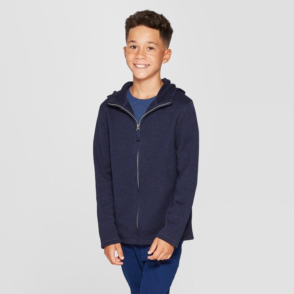 Boys' Cozy Knit Sweatshirt - Cat & Jack Navy (Blue) L