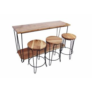 Rectangular Bar Dining Table Brown - The Urban Port
