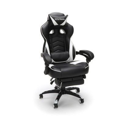 Reclining Gaming Chair with Footrest White - RESPAWN