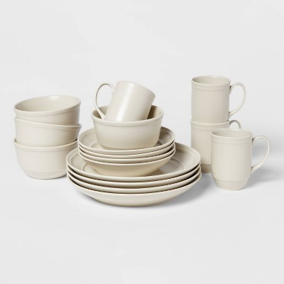 16pc Porcelain Courtland Dinnerware Set White - Threshold™