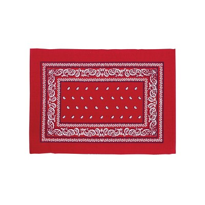 C&F Home Bandana Red Patriotic Cotton Woven Placemat Set of 6