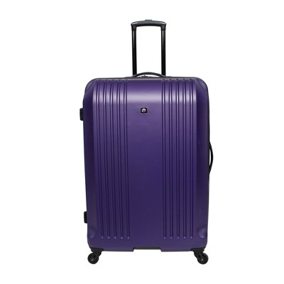 Skyline 28  Hardside Spinner Check In Suitcase - Purple