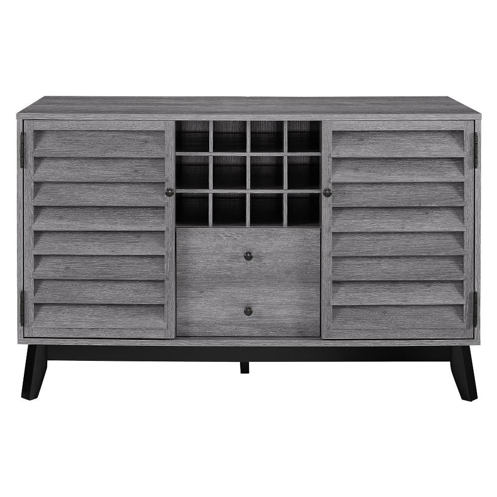 Granite Hill Wine Cabinet - Gray Oak - Room & Joy