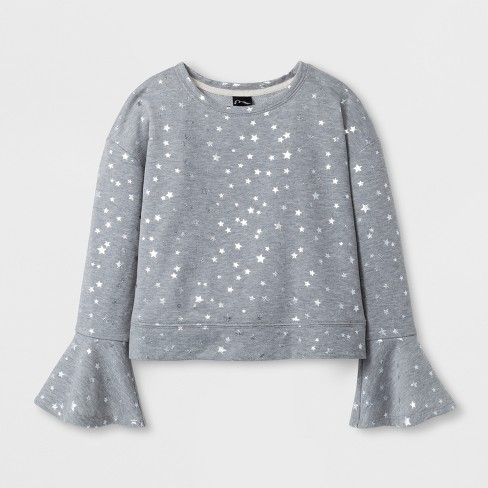 Girls' Bell Sleeve Pullover - art class™ Gray - image 1 of 1