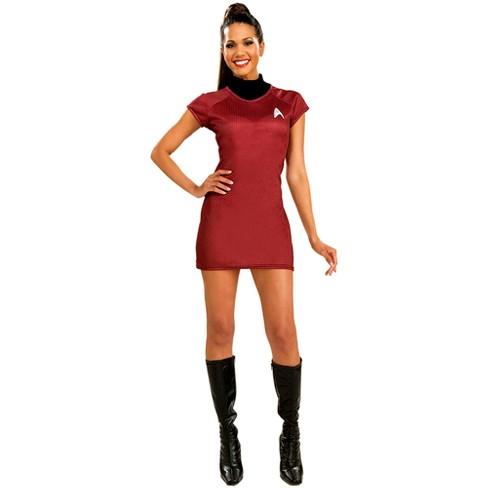 Star Trek Women s Dress Deluxe Costume Red   Target 4430f90c24