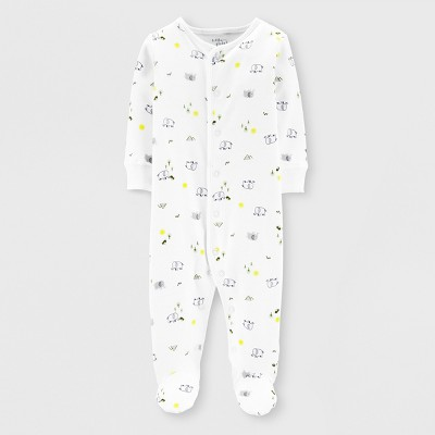 Little Planet Organic by carter's Baby Boys' Footed Sleeper - White 3M