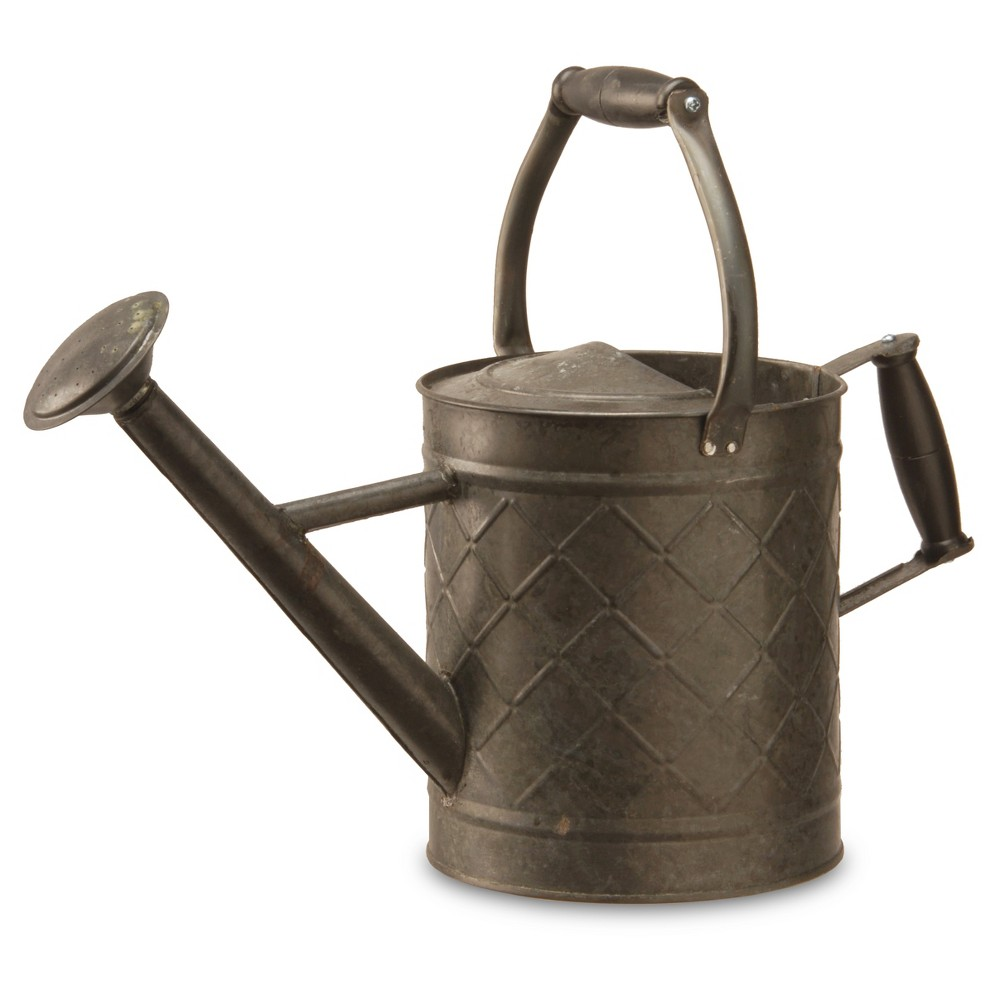 """Image of """"Garden Accents Antique Watering Can Black 12"""""""" - National Tree Company"""""""