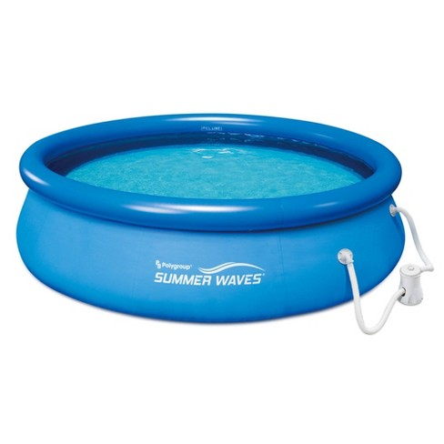 Summer Waves 10ft x 30in Quick Set Inflatable Above Ground Pool with Filter Pump - image 1 of 4