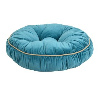 La Ti Paw - Dog Bed - Velvet Round - Teal - 24u0022
