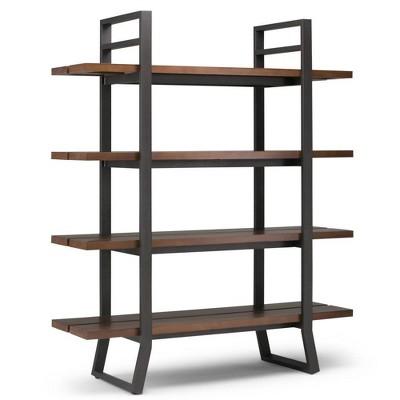 """66""""x54"""" Tyson Solid Wood Bookshelf Walnut - WyndenHall"""