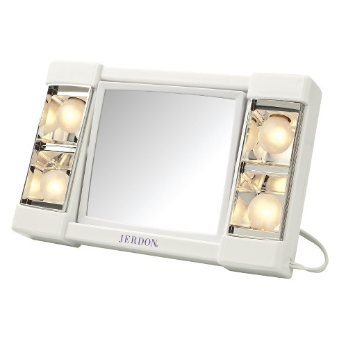 Jerdon 3X-1X Lighted Makeup Mirror White - image 1 of 1