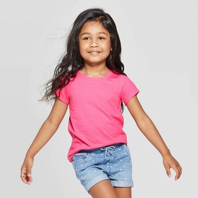Toddler Girls' Solid Short Sleeve T-Shirt - Cat & Jack™