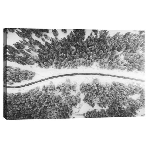 "Frozen Road Decorative Canvas Wall Art 11""x14"" - PTM Images - image 1 of 1"